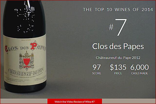 WS2014TOPNo7-Clos des Papes Chateauneuf-du-Pape 2012