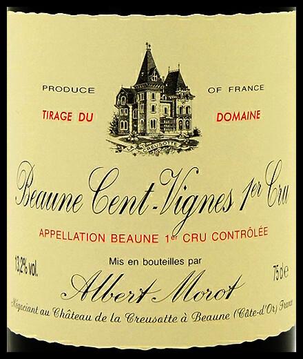 Albert Morot Beaune les Cent Vignes 1er Cru