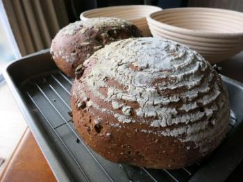 ペカンと全粒粉のパン