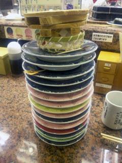 寿司皿タワー!