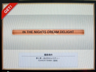 称号「IN THE NIGHTS DREAM DELIGHT」