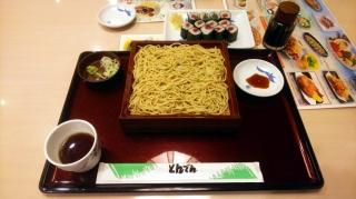 柚子切り蕎麦+鉄火巻