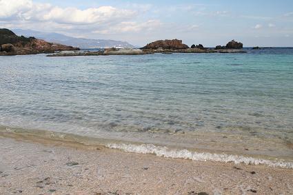海水がきれいです。