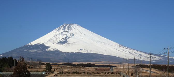 雄大な富士山です。