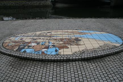 洋式帆船の建造風景