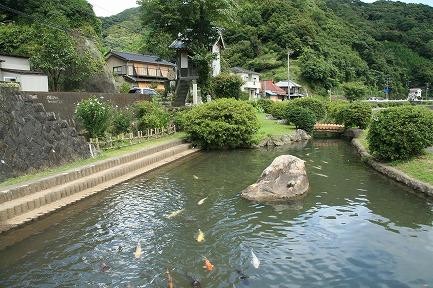 身を投げた稲生沢川の淵です。