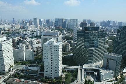 ビル29階からの眺望