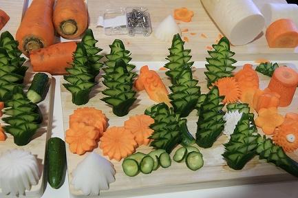 日本料理・野菜の芸術品