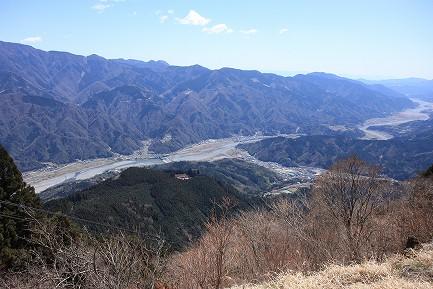 身延山頂からの眺望-1