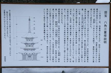 国宝 八角三重塔-3