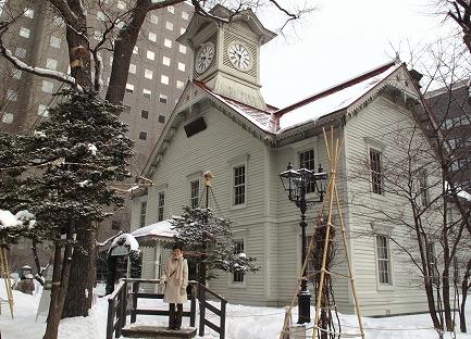 冬の時計台-1