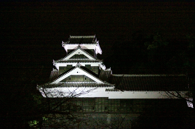 ライトアップされた熊本城-5
