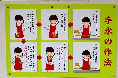 手水の作法