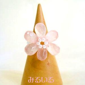 桜の指輪|手作りアクセサリー工房みるいる