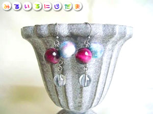 ピンクタイガーアイとすごく大人っぽいグレー水晶という選択|手作りアクセサリー工房みるいる