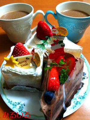 パティスリー ラ・ヴィエイユさんのケーキで小さなクリスマスしました♪|手作りアクセサリー工房みるいる
