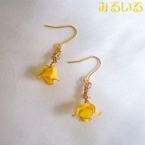 春へGO!小さな黄色い花で朗らかお洒落♪|手作りアクセサリー工房みるいる