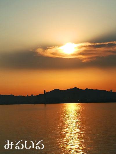 土星太陽(雲と夕日)|手作りアクセサリー工房みるいる