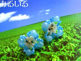 野に咲く青い星♪オオイヌノフグリのピアス|手作りアクセサリー工房みるいる