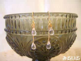 今日から4月♪誕生石『宝石のような水晶』を纏う!|手作りアクセサリー工房みるいる