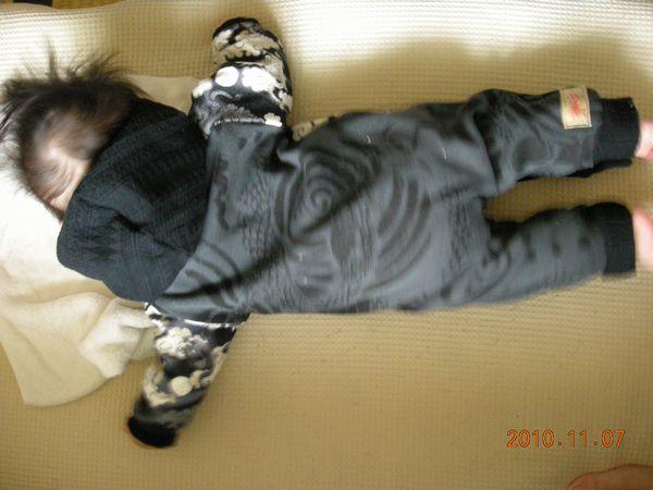 手作りベビー服・和柄カバーオール