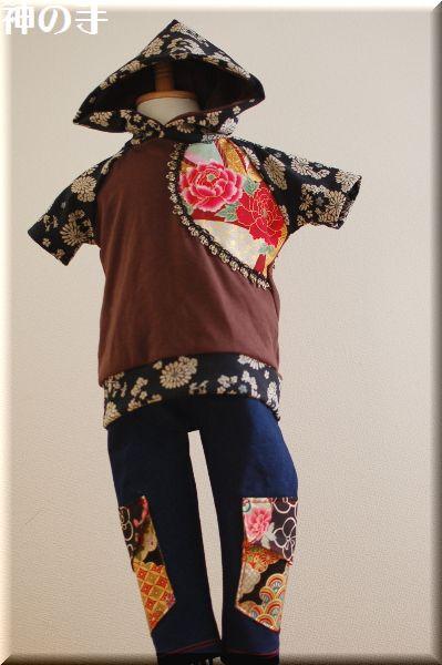 和柄子供服・Tシャツ&デニムスパッツ