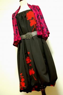 ハンドメイド 和柄2WAY 着物リメイクバルーンスカート