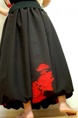 ハンドメイド 和柄 バルーンスカート