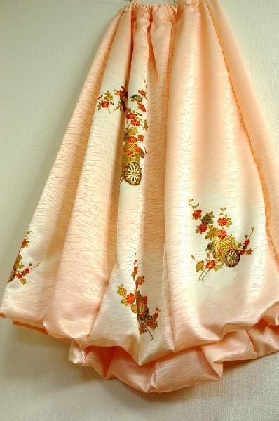 手作りバルーンスカート 和柄着物リメイク
