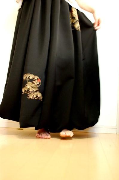 レディース和柄バルーンスカート 一点物 着物リメイク