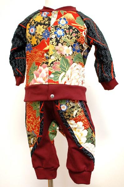 手作り和柄ベビー服セット
