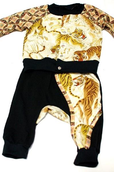 虎柄手作りモンキーパンツ ベビー服