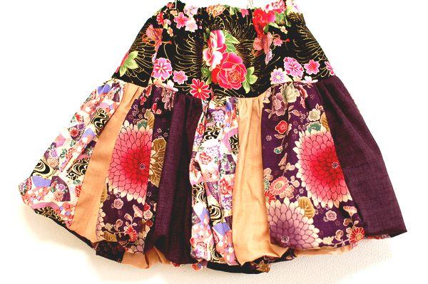 和柄ハンドメイドバルーンスカート