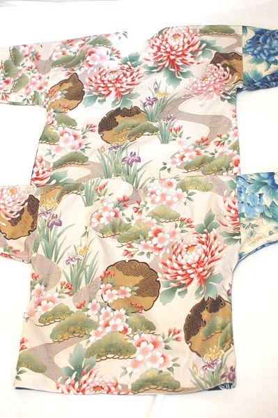 和柄鯉口シャツ手作りおそろい