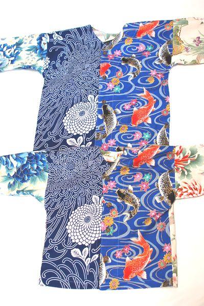 ハンドメイド和柄鯉口シャツ