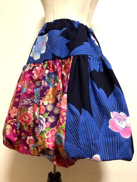 手作り和柄バルーンスカート