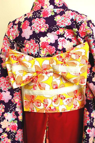 手作り和柄卒業式衣装 帯