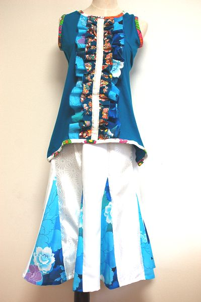 和柄レディースタンクトップ、マーメイドスカート