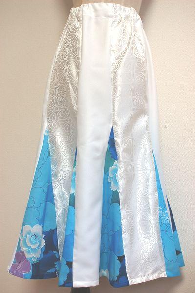 手作り和柄タンクトップ、マーメイドスカート