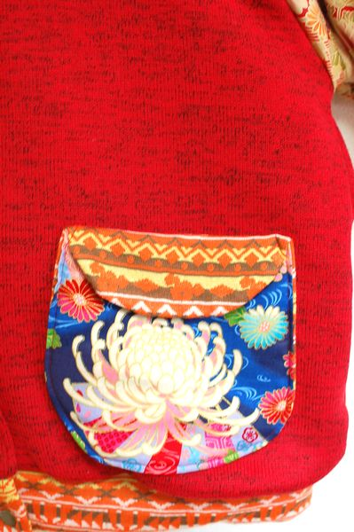 和柄レディース冬ファッション