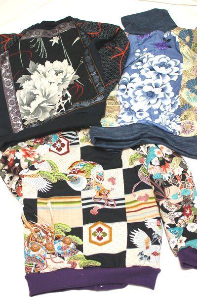 和柄手作り子供服