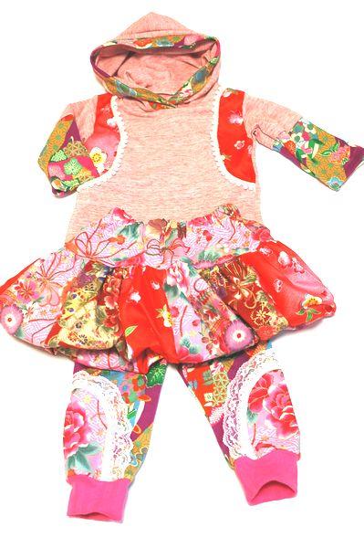 和柄ハンドメイド女の子服