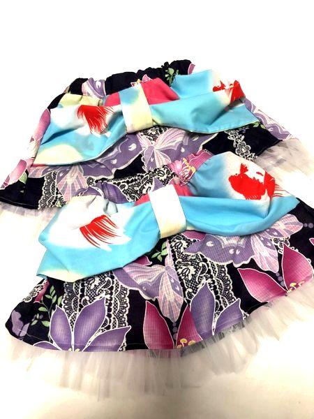手作り和柄女の子スカート