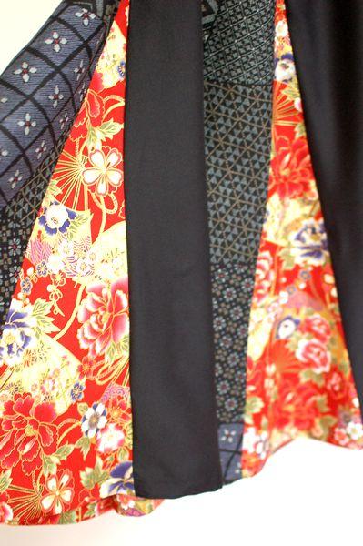 手作り和柄レディースマーメイドスカート