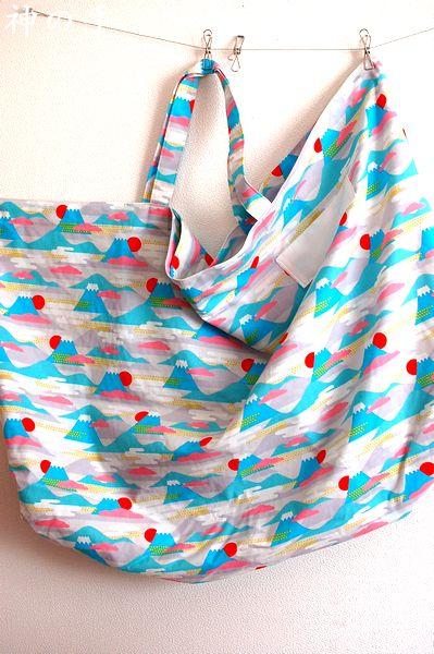 手作り富士山和柄お昼寝布団袋