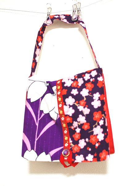 手作り和柄サルエルパンツ、おむつ袋