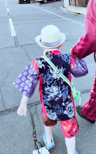 子供服和柄甚平