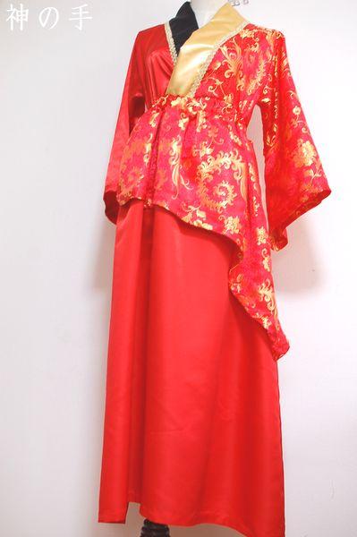 カラオケ大会用手作り和柄衣装