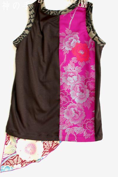 ファッションショー衣装和柄タンクトップ