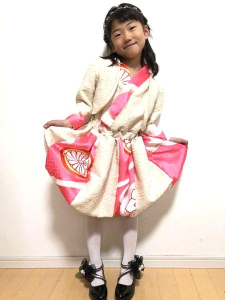 ハンドメイド 和柄アンサンブル 入学式衣装